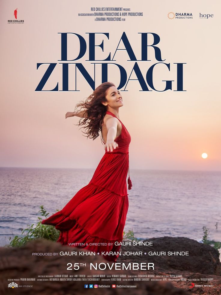It's time to be light, happy and free.😀🤗 #DearZindagi new poster out now. In cinemas Nov 25. #aliabhatt #shahrukhkhan #dearzindagi #dharma #sony