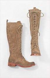 Gee'WaWa tall lace up boots
