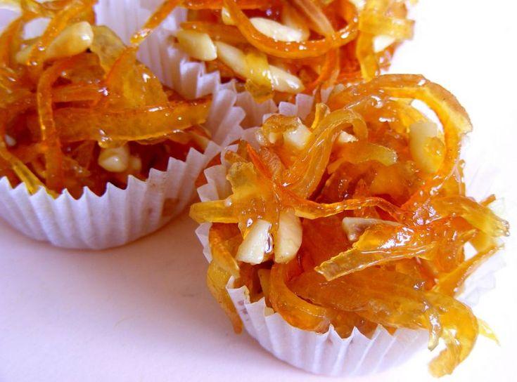 arance caramellate con crema alla ricotta