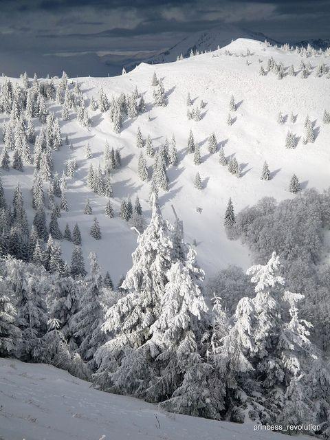 Donovaly v zime. Winter in Slovakia.