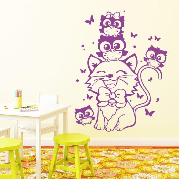 Die besten 25+ Wandtattoo katze Ideen auf Pinterest Wall tattoos - Wandtattoos Fürs Badezimmer
