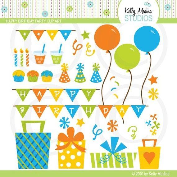 Happy Birthday Party Clip Art
