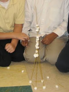 Teams race to build the highest tower using spaghetti and marshmallows. When the time is up  (10 mins) discuss what made teams successful.