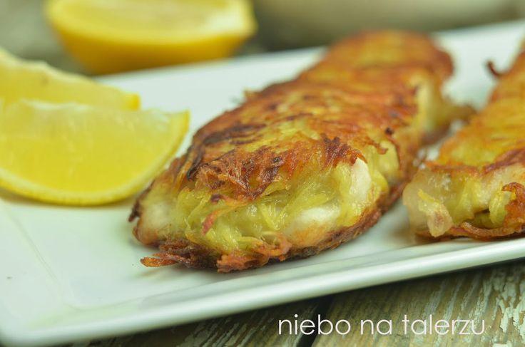 niebo na talerzu: Ryba w panierce z tartych ziemniaków