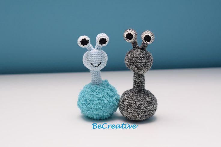 Knuffels - Monstertje blauw (eigen ontwerp) - Een uniek product van EllenBeCreative op DaWanda