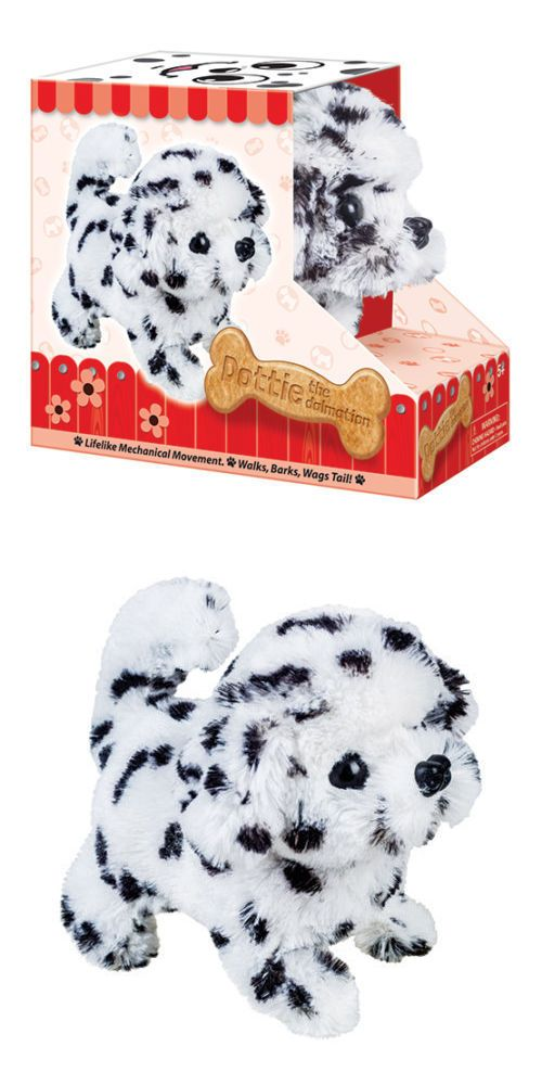 Animals 145942 Battery Operated Dalmatian Dog Plush Stuffed