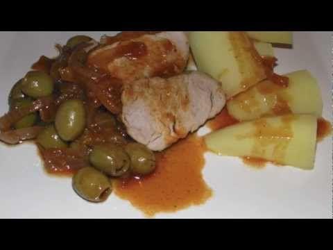 Recette filet mignon de porc sauce aux olives - YouTube
