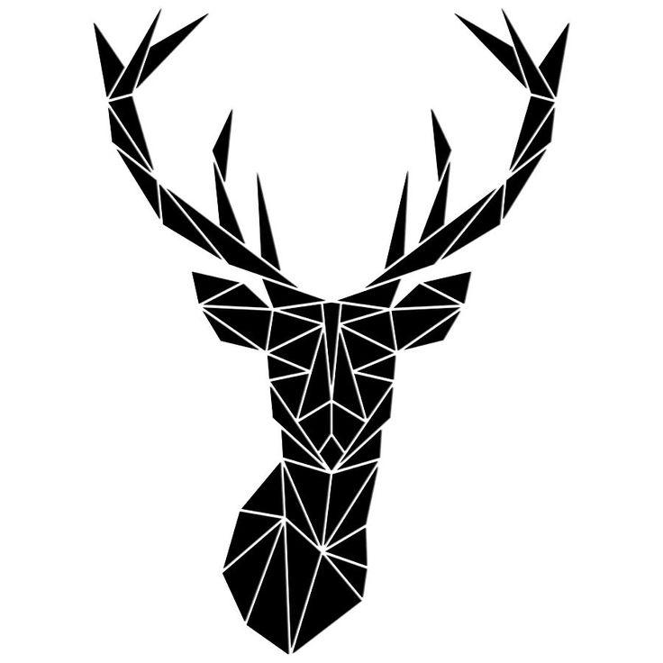 Dekoracyjne puzzle ścienne JELEŃ - GEOMETRIC - NieMaJakwDomu