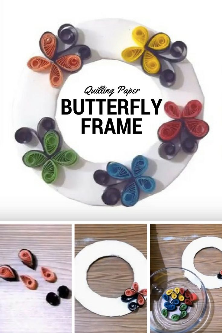 #quillingpaper #butterfly #frame #paper #crafts #DIY