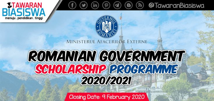 Romanian Government Scholarship Programme 2020/2021 in ...