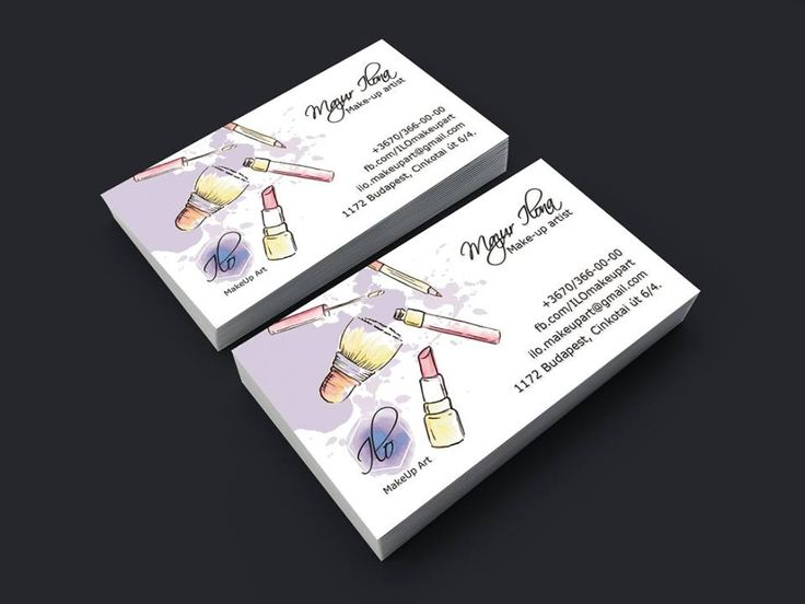 ILO MakeUp Art business card by Zsu-Webdesign