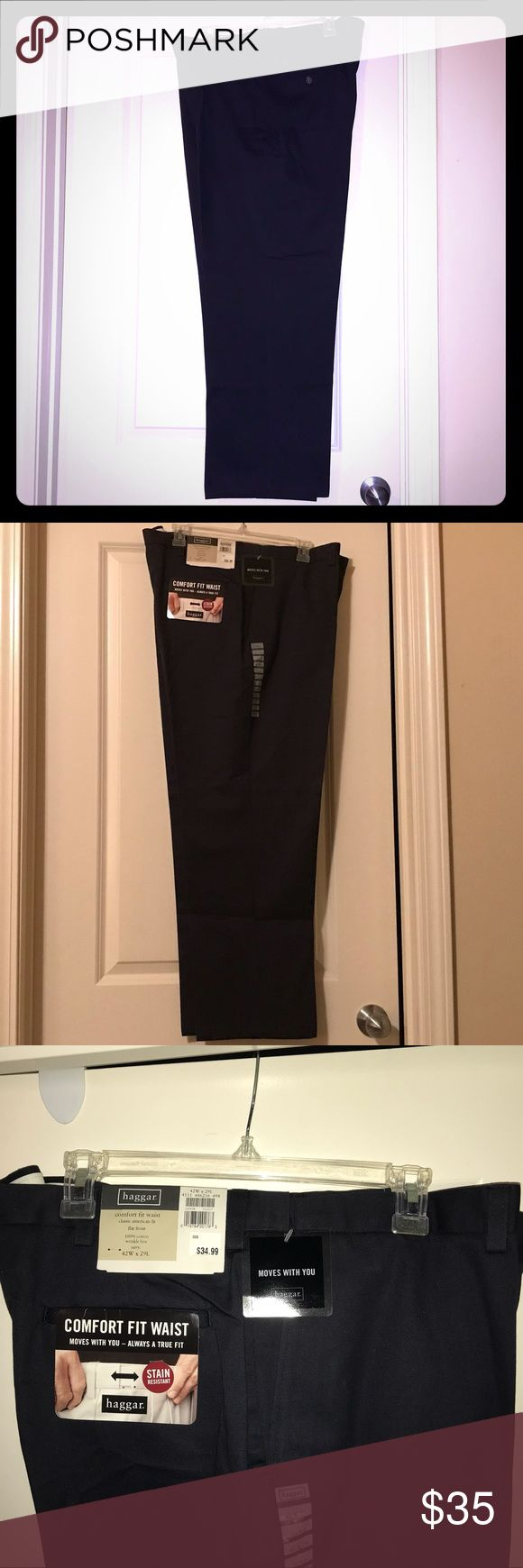 """💼 NWT! HAGGAR Navy Blue Men's Dress Pants HAGGAR 
