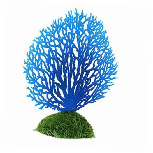 aquarium decor artificial coral decoration for aquarium fish tank (blue)