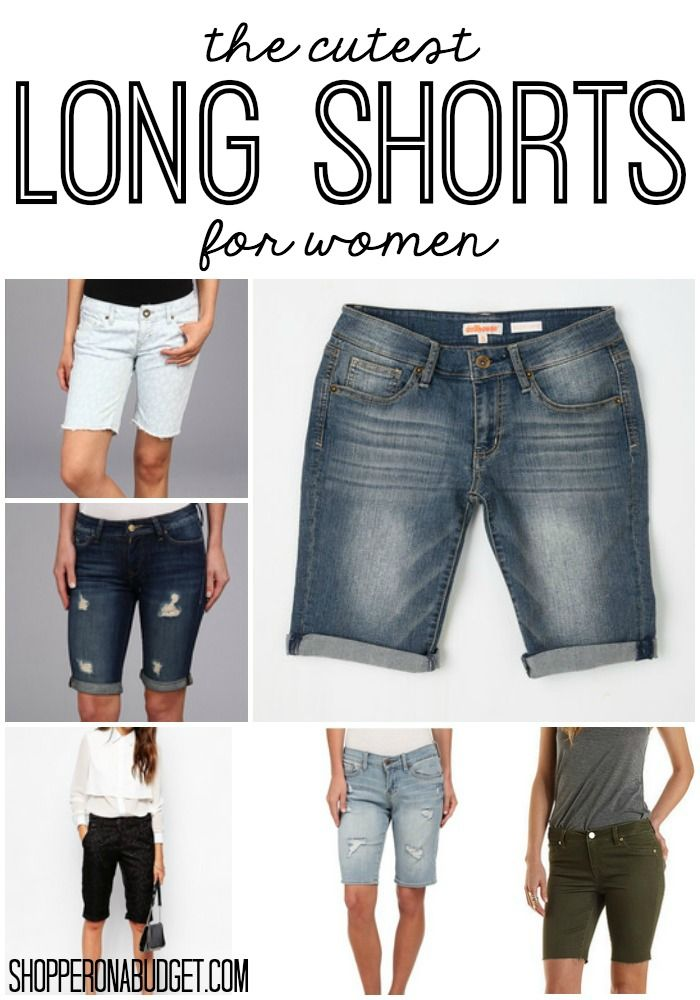 The cutest long shorts for women!  All of these are affordable and so flattering!  ShopperOnABudget.com