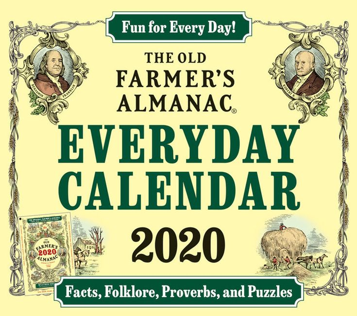 The 2020 Old Farmer's Almanac Everyday Calendar Old