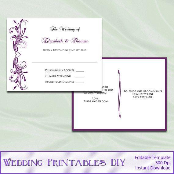 790 best Wedding Templates images on Pinterest Wedding templates - microsoft word postcard template