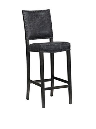 50% OFF Onyx Aspen Top Grain Leather Barstool, Graphite