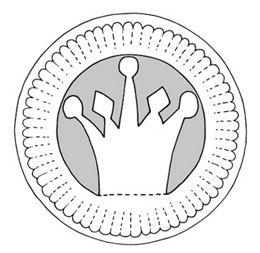 Schnittmuster Pappteller-Krone