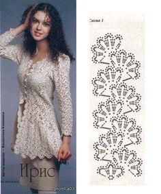 Beautiful jacket entirely made of strips of crochet lace tape. Russian page but Chart available easy enough to understand. ~~ http://www.liveinternet.ru/users/iren_akil/post207651053