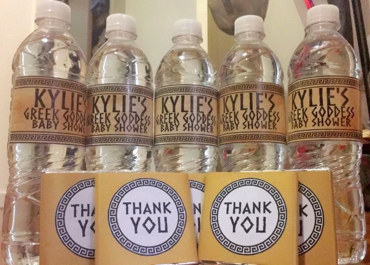 Personalised Water Bottles and Thank You Party Favours!