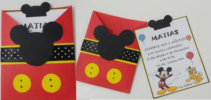 invitaciones artesanales de mickey - Buscar con Google