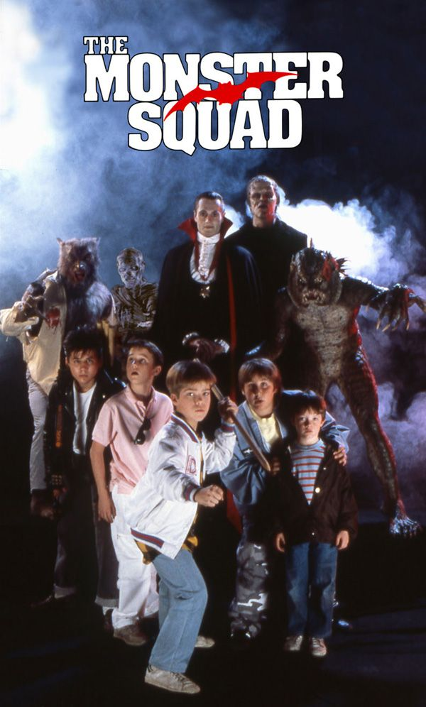 The Monster Squad (1987)    Dracula is alive. In fact, he plans to rule the world and that is why he seeks the help of other legendary monsters. However, a bunch of kids regarded by their peers as losers uncover the devious plan and prepare for a counter strike.: 80S, Monstersquad, Best Movie, Favorite Movies, Monsters Stuff, Squad 1987, The Monsters Squad, Movie Monsters, Kid