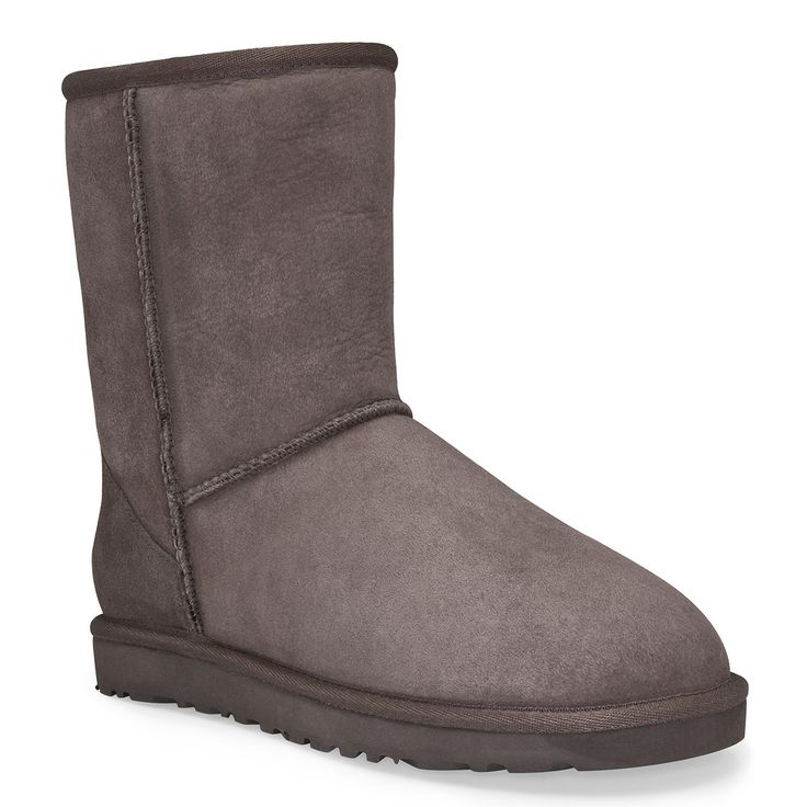 - Twinface sheepskin upper in chocolate - Mid-shaft construction - Slip-on fit - Moisture-wicking sheepskin interior for superior comfort - Sheepskin lined footbed offers support - Molded EVA outsole