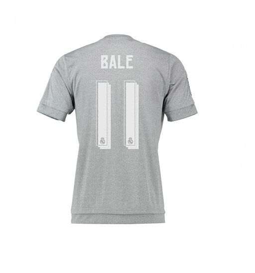Maillot de foot Real Madrid Exterieur 2015/2016 (11 Bale) Gris