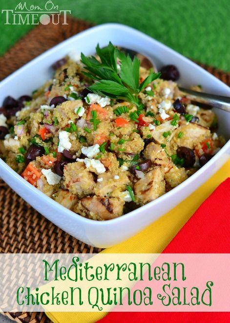 ... Chicken Quinoa Salad | Recipe | Mediterranean Chicken, Quinoa Salad