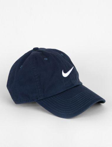 Nike Heritage Swoosh Logo Cap Obsidian/White