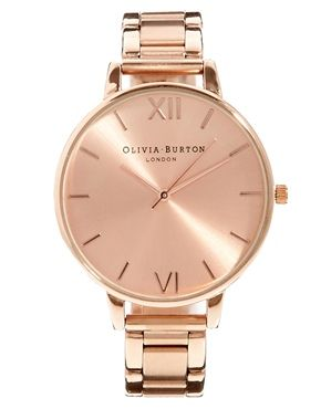 Olivia Burton Big Dial Rose Gold Bracelet Watch (Get 20% off this until 9am Friday with your UNiDAYS Discount!)
