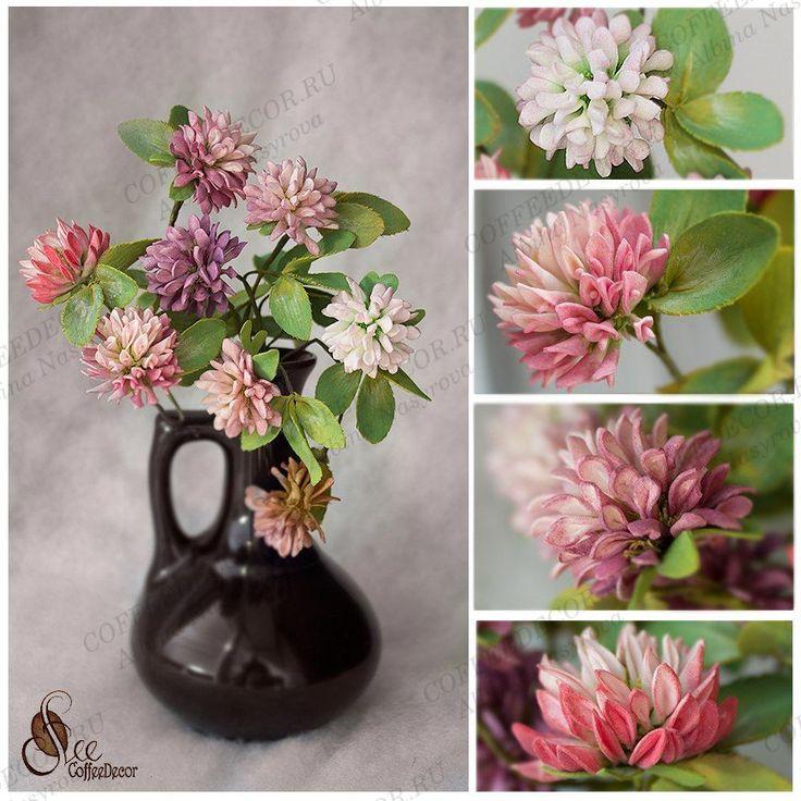 Цветы из фоамирана: клевер