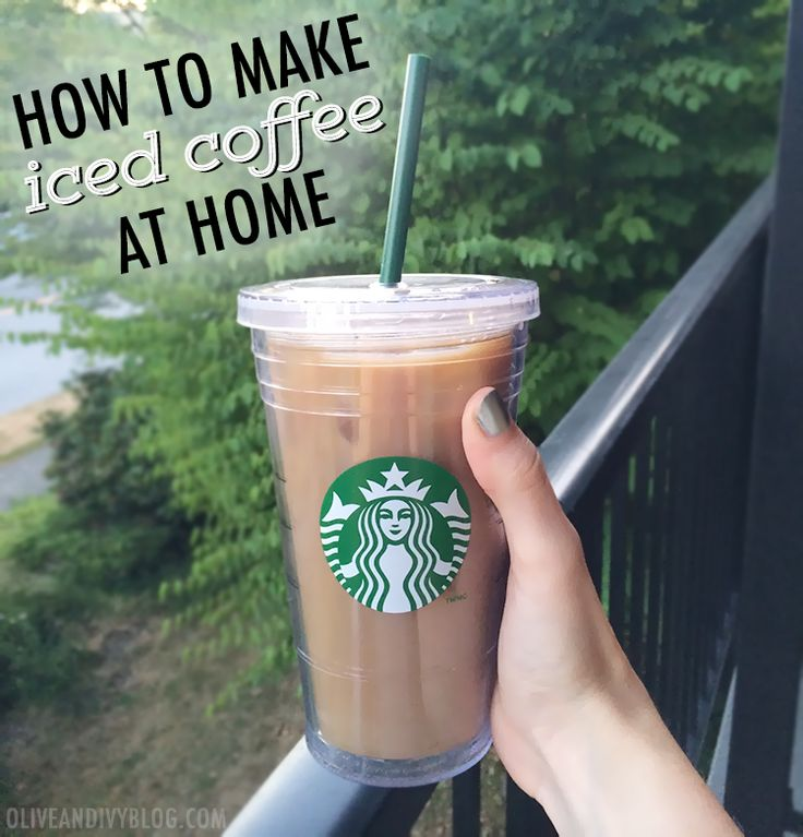How to make iced coffee at home - SO easy! #coffee