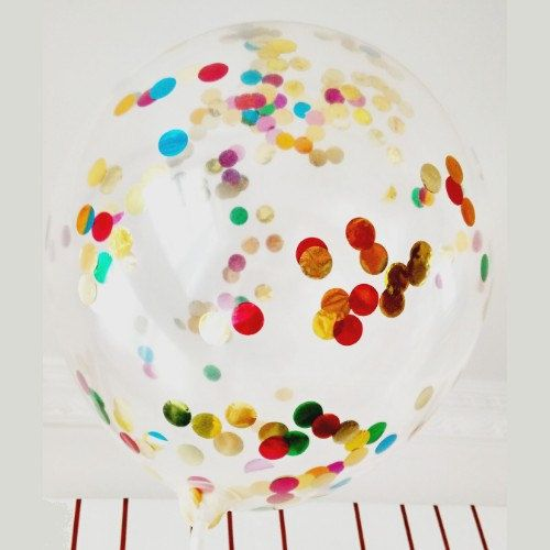 Lot de 3 ballons en latex transparent avec confettis par Madveno