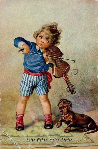 Vintage Dachshund art
