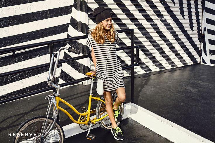 Reserved Kids SS16 #dress#stripes#black&white#bike#street#wear