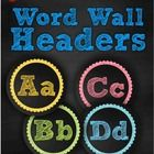 Chalk Word Wall Headers  This unit would make a great addition to your chalkboard themed classroom!  This unit contains both upper and lowercase le...