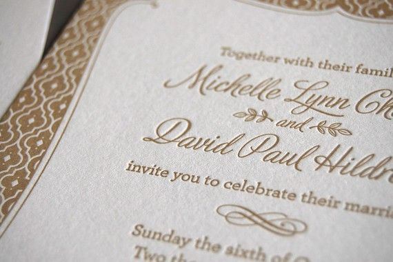 Chocolate Truffle Letterpress Wedding by pistachiopress on Etsy