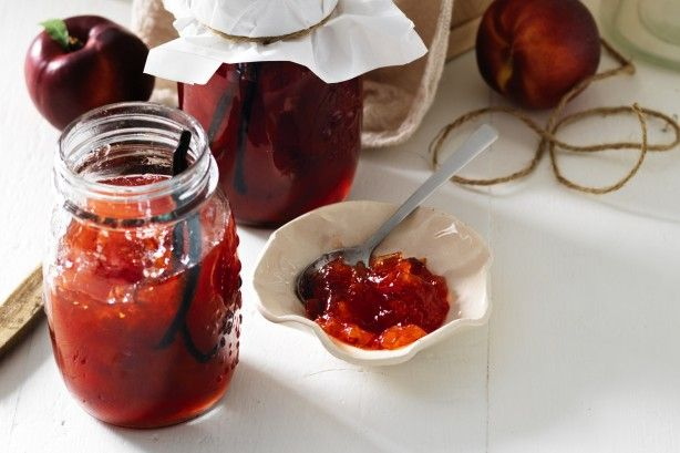 Before you bid summer goodbye, turn nectarines into jam to enjoy this sweet stone fruit all year long.  Cooked nectarines taste delicious with vanilla and almond liqueur in this sweet, rosy nectar.