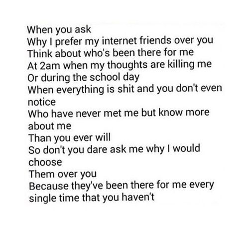 | Internet friends. forever && always. |