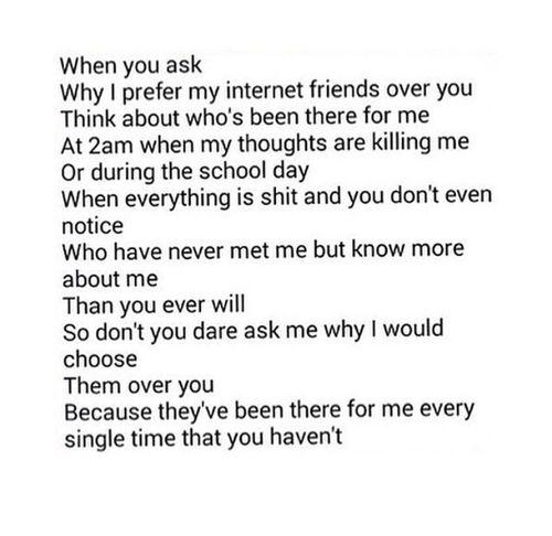  Internet friends. forever && always.  