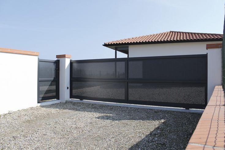 pose portail coulissant lapeyre portails pinterest accesos. Black Bedroom Furniture Sets. Home Design Ideas