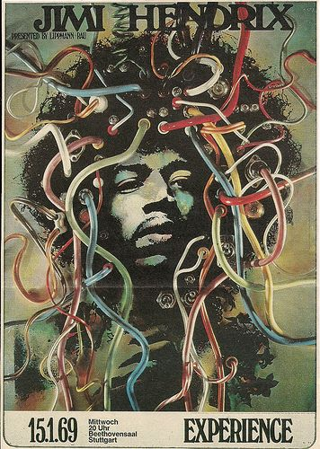 01/15/69 Jimi Hendrix @ Beethovensaal, Stuttgart, West Germany | por NYCDreamin