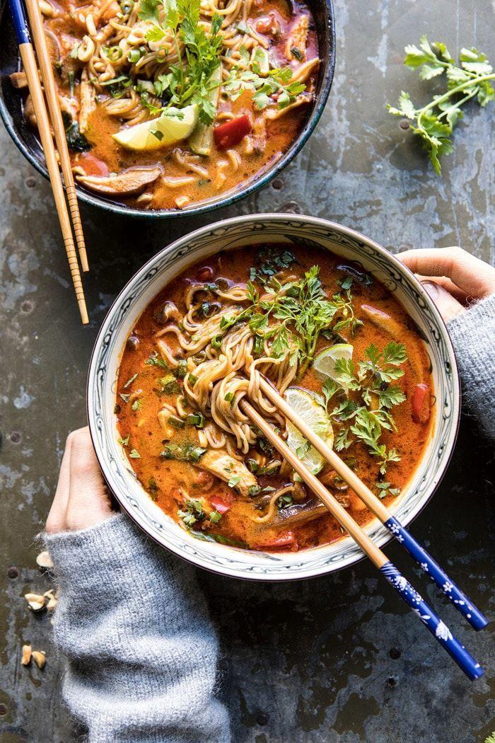30 Minute Thai Peanut Chicken Ramen
