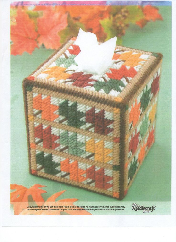 3442 best crafty plastic canvas and needlepoint images on for Tissue box cover craft
