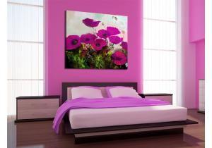 Coquelicots - fleurs violettes
