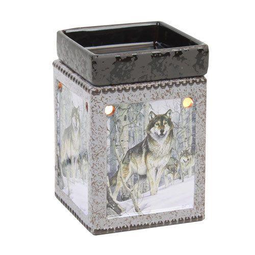 Brand New Ceramic Wolf Pack Electric Wax Tart Melt Oil Candle Warmer Burner