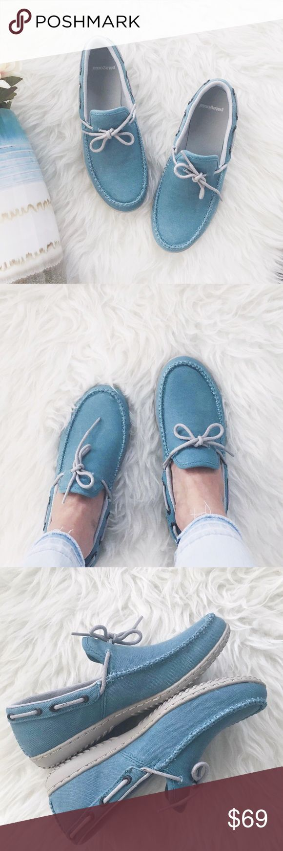 nwt//patagonia • vegan Kula Moc Canvas shoes 🛍: patagonia - SOLD OUT ONLINE ▫️kula moc canvas shoes ▫️tobago blue ▫️the Kula Moc Canvas is a vegan-friendly casual moccasin w/durable canvas upper and breathable mesh lining. It has latex footbed w/mesh lining for comfort. ▫️size: 6 US; 37 EUR ▫️condition: new in box with minor flaws (see last two photos) small black mark on one shoelace and another black mark near shoelace on other shoe - very unnoticeable. Price reflects. Box may have…