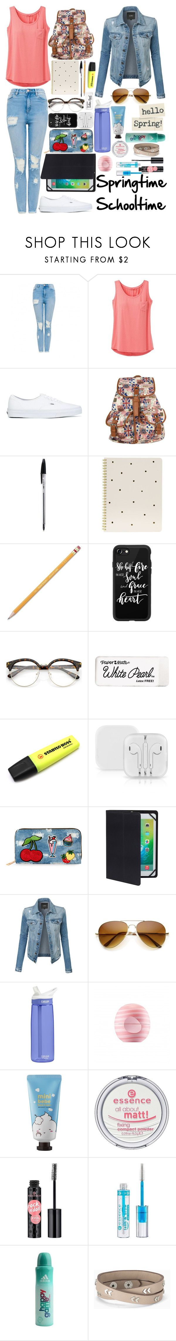 """""""Schooltime, Springtime, Citytime..."""" by lexisamskywalker on Polyvore featuring prAna, Vans, Sugar Paper, Paper Mate, Casetify, Stabilo, Viola, iHome, LE3NO and CamelBak"""