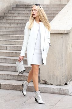 70's style metallic Silver ankle boots - Google Search